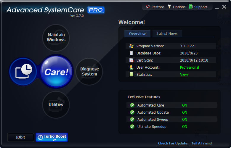 Advanced SystemCare Pro Screen shot