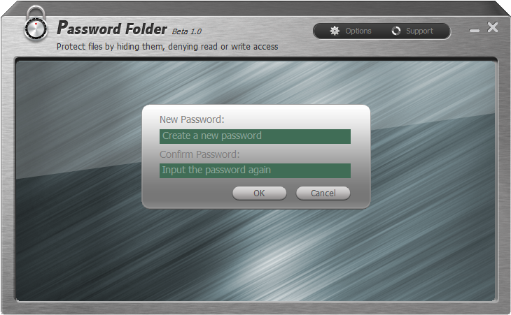 Password protect your folder and files.