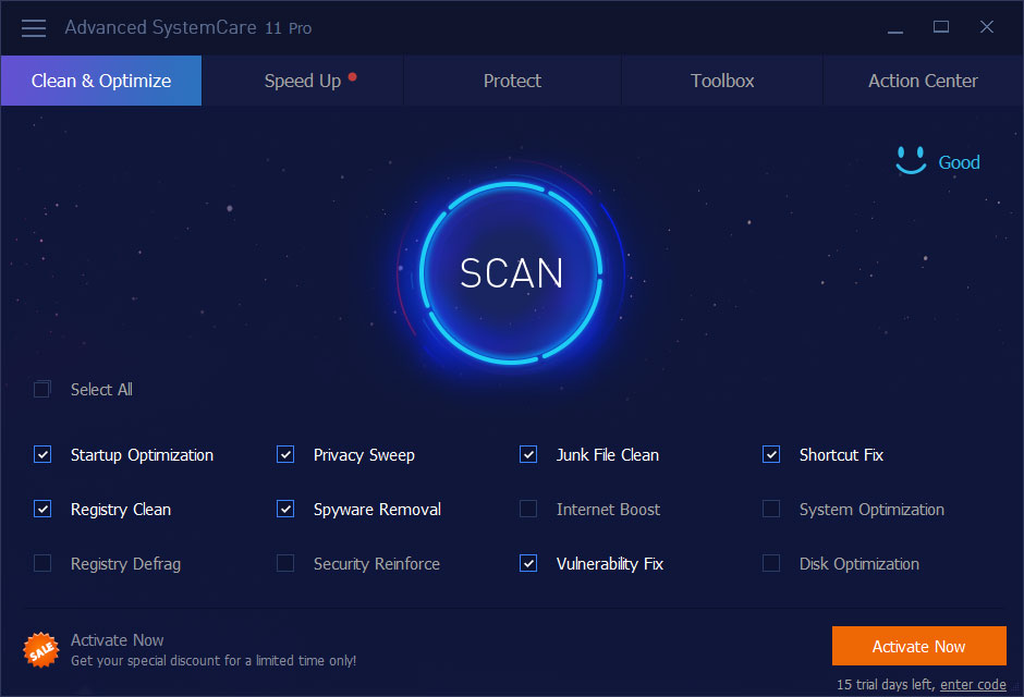 Advanced SystemCare Professional full screenshot