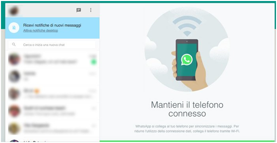 Escaneie o Código QR para utilizar WhatsApp no seu PC