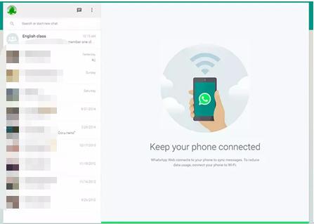 Skan QR-koden og brug whatsApp på PC