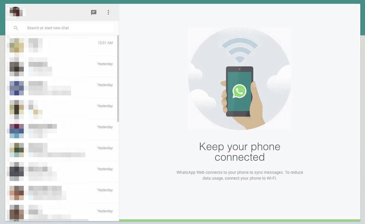 Skanna QR Koden och använd whatsApp på PC
