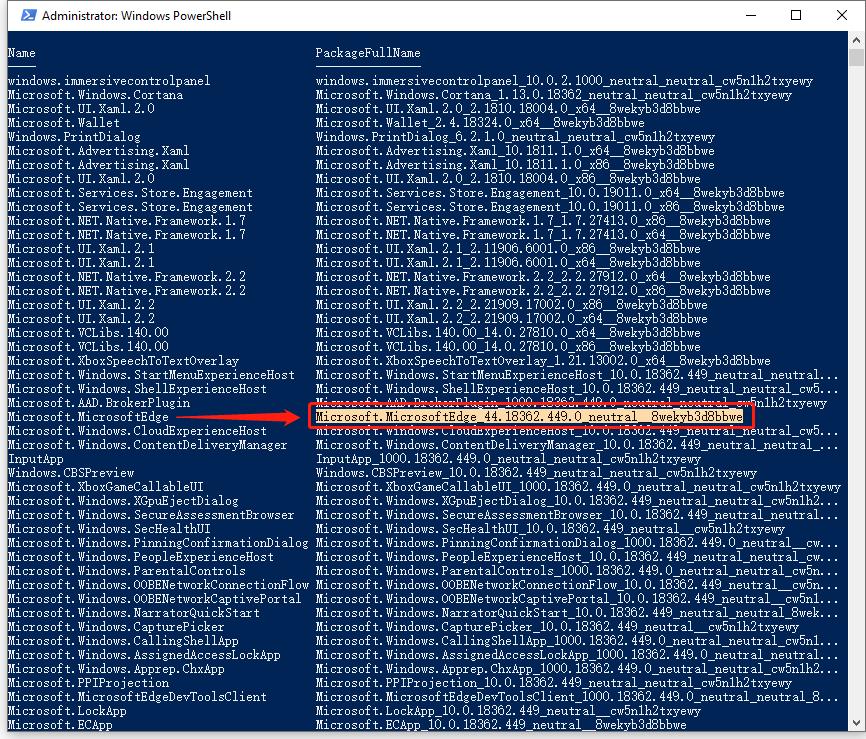 Désinstaller Microsoft Edge avec Power Shell